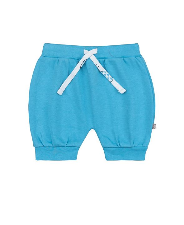 PureHeart Organics Baby Boys and Girls Bubbly Whale Puff Shorts