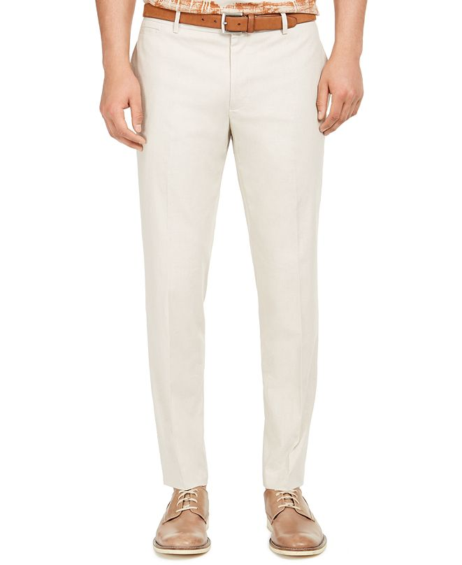 INC International Concepts INC Men's Slim-Fit Linen Jasper Pants, Created for Macy's