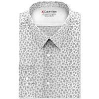 Calvin Klein Men's Extra-Slim Fit Temperature-Regulating Performance Stretch Abstract-Print Dress Shirt