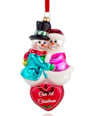 Holiday Lane Christmas Ornament, Our 1st Christmas Snowman Couple