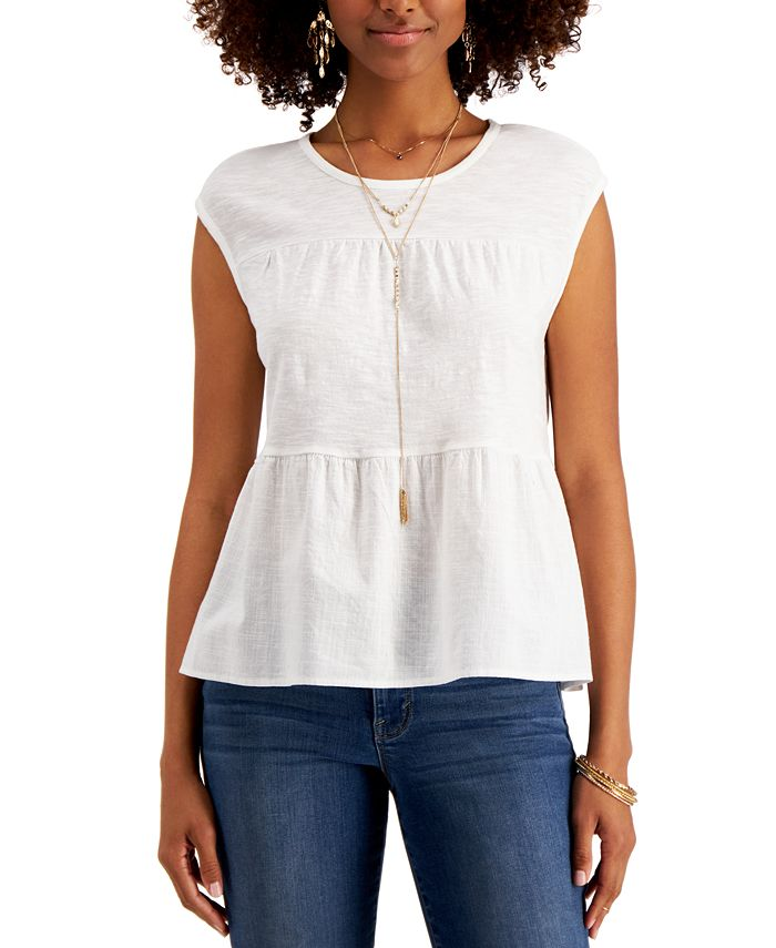 Style & Co - Cotton Tiered Tank Top