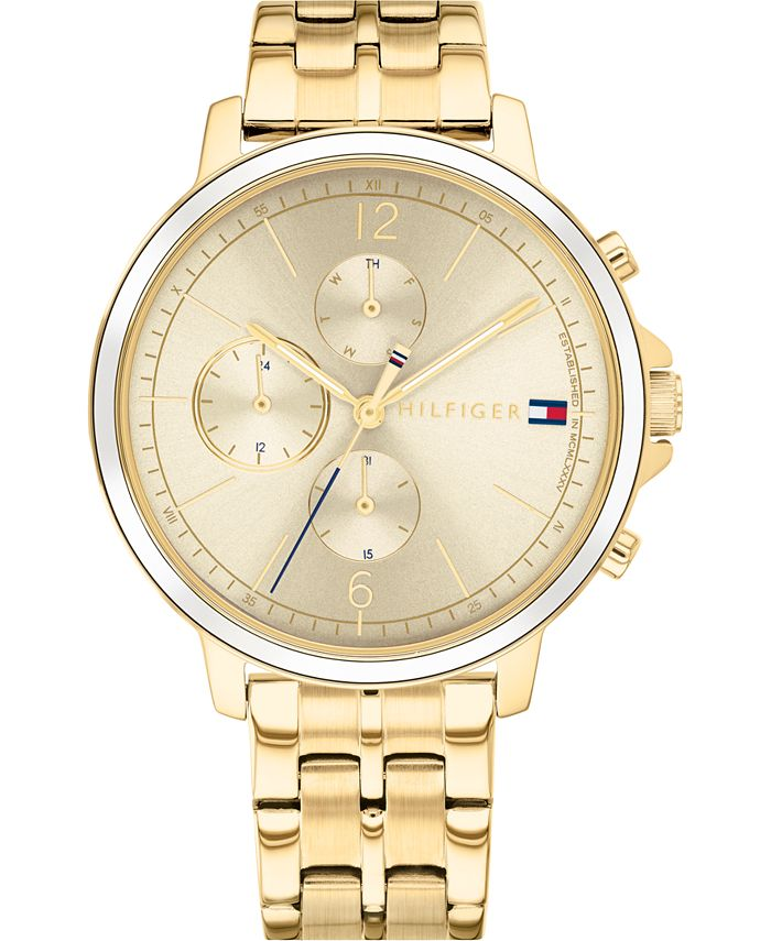 Tommy Hilfiger - Women's Gold-Tone Stainless Steel Bracelet Watch 38mm