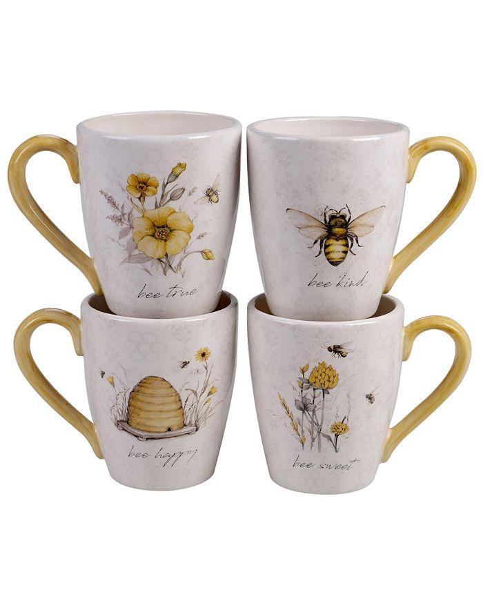Certified International - Bee Sweet 4-Pc. Mugs asst.
