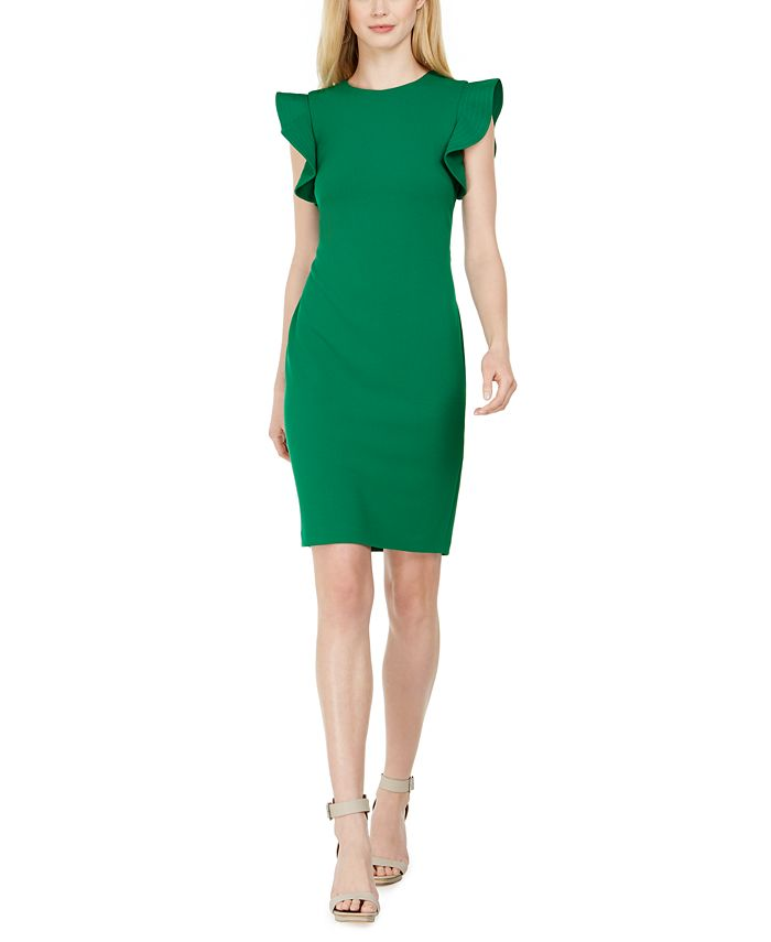 Calvin Klein - Petite Ruffle-Sleeve Sheath Dress