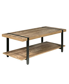 OneSpace Bourbon Foundry Coffee Table, Wood and Inset