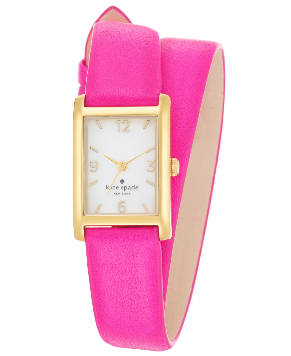 kate spade new york Watch, Womens Cooper Vivid Snapdragon Double Wrap Leather Strap 32x21mm 1YRU0248   Watches   Jewelry & Watches