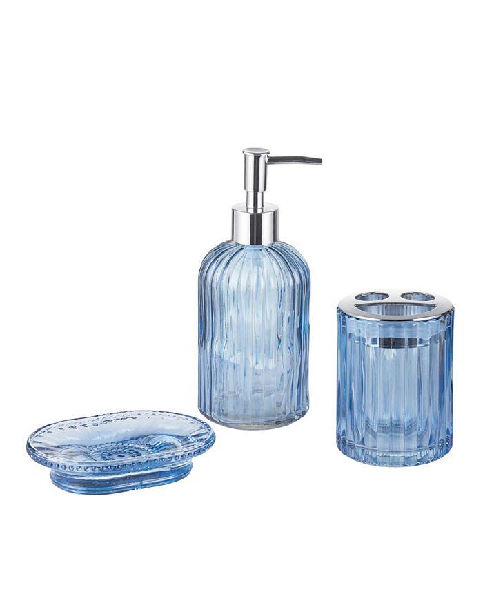 Seventh Studio Blue 3 Pc Bath Accessory Set Reviews Bathroom Accessories Bed Macy S