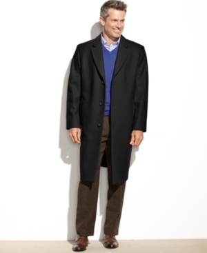London Fog Signature Wool-Blend Overcoat $96.29 AT vintagedancer.com