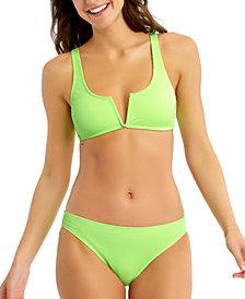 California Waves Juniors' Ribbed Bikini Top & Bottoms, Created for Macy's