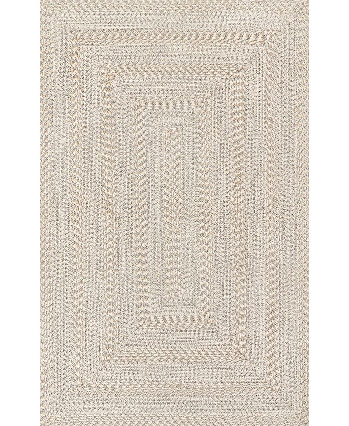 Nuloom Texture Braid Doutzen Indoor And Outdoor Ivory 5 X 8 Area Rug Reviews Rugs Macy S