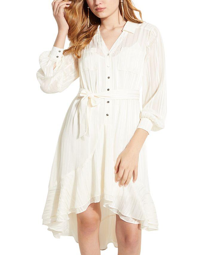 GUESS - Eveta High-Low Shirtdress