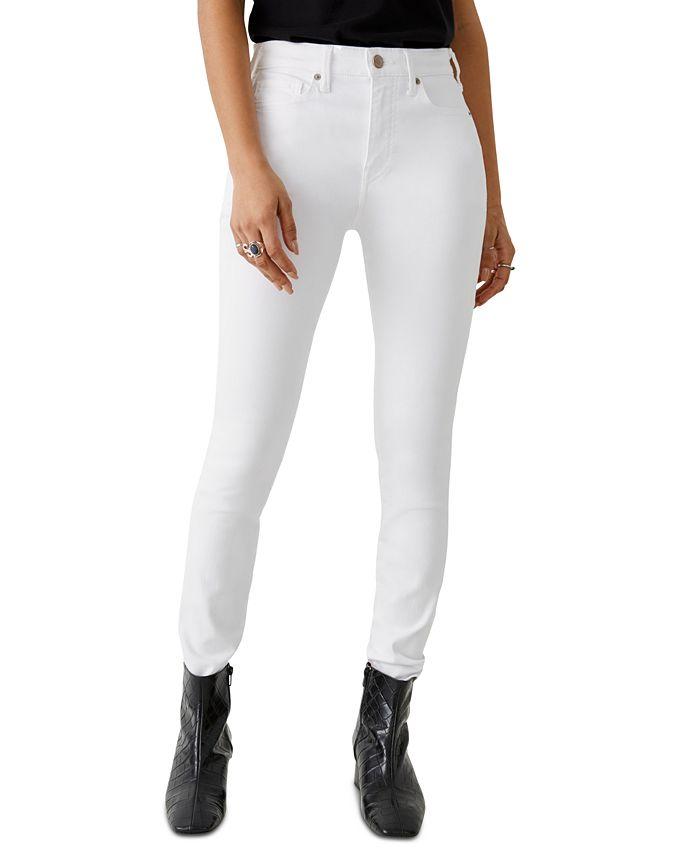 True Religion - Halle High-Rise White Skinny Jeans