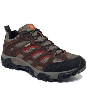 Merrell Moab Waterproof Lace-Up Hiking Sneakers Mens Shoes