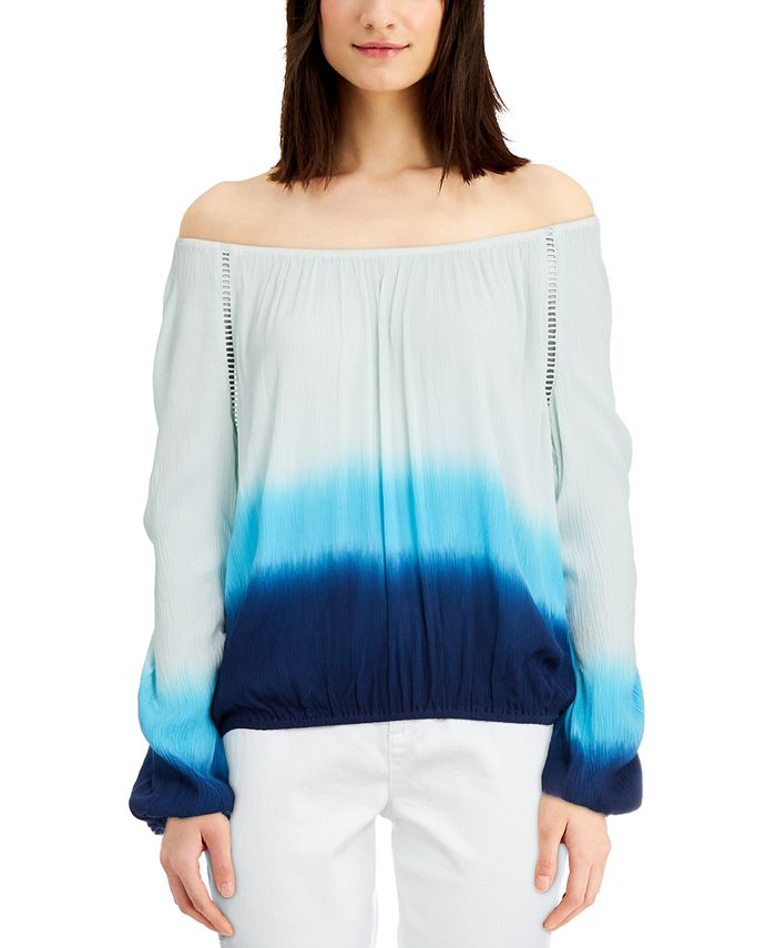 INC International Concepts - Tie-Dyed Off-The-Shoulder Top
