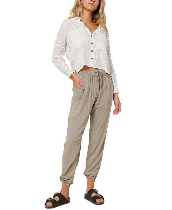 O'Neill - Juniors' Barlea Cotton Cropped Shirt