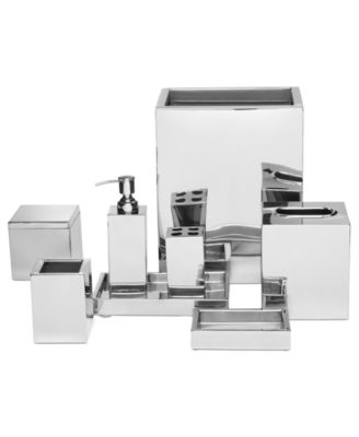 Hotel Collection Hotel Modern Brushed Stainless Steel Bath Accessories Collection Bathroom