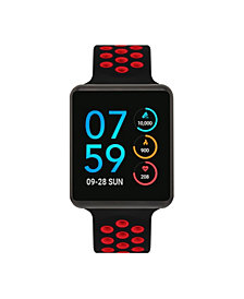 iTouch Men's Air SE Black Case with Black and Red Perforated Strap 37mm - A Special Edition