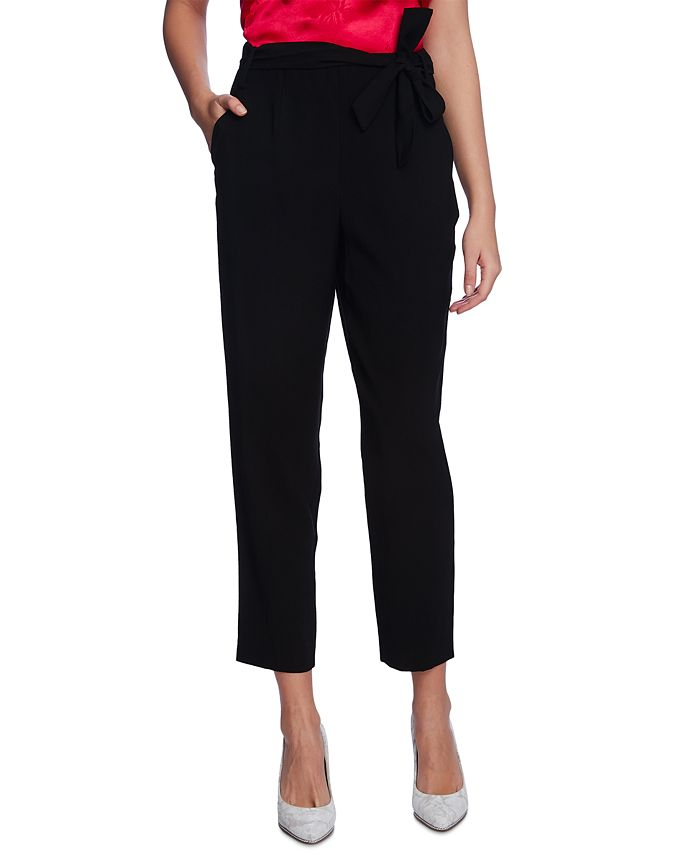 1.STATE - Sash-Belted Ankle Pants