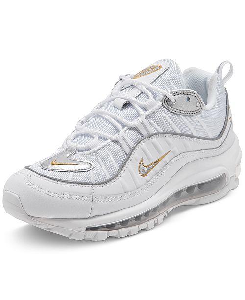 Nike Women's Air Max 98 Metallic Casual Sneakers from Finish ...