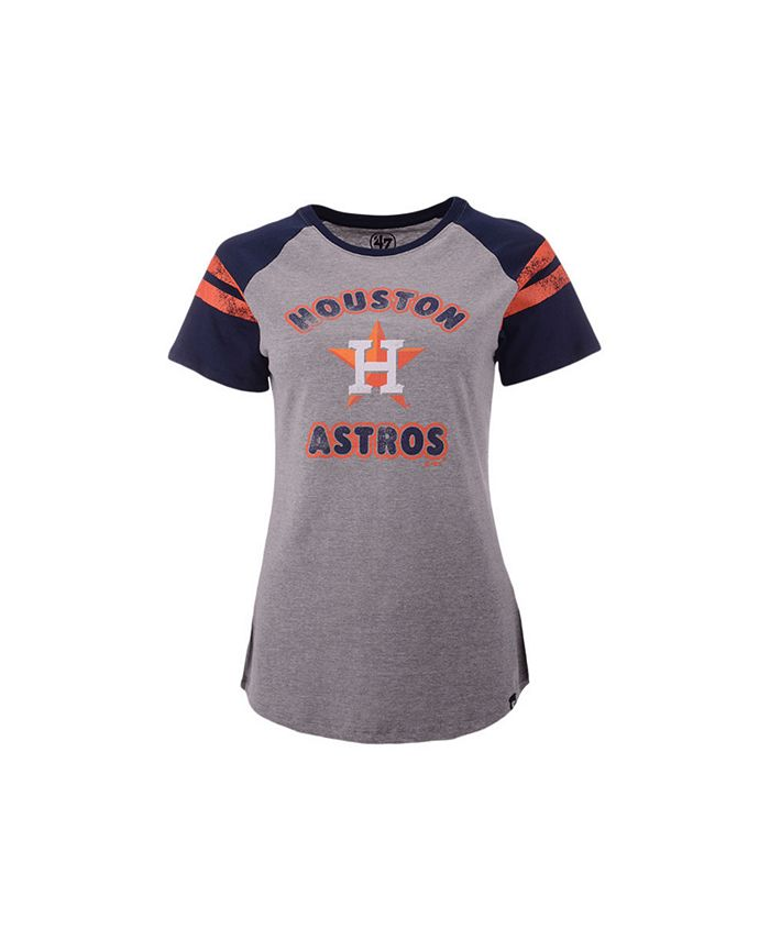 '47 Brand - Women's Women's Houston Astros Fly Out Raglan T-shirt Fly Out Raglan T-shirt