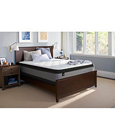 """Sealy Essentials Coral 13"""" Plush Euro Pillow Top Mattress - Twin"""