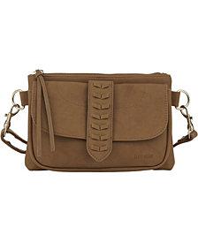 kensie Women's Whipstitch Fashion Crossbody Bag