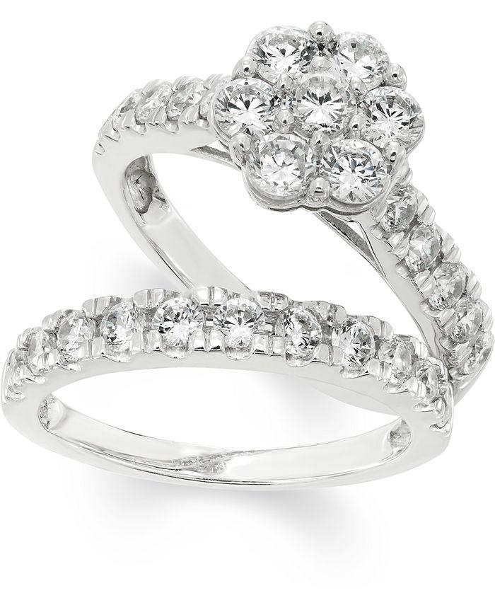 Macy's - Diamond Bridal Set (2 ct. t.w.) in 14k White Gold