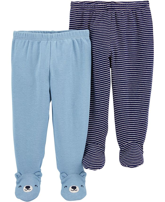 Carter's - Baby Boys 2-Pair Footed Cotton Pants
