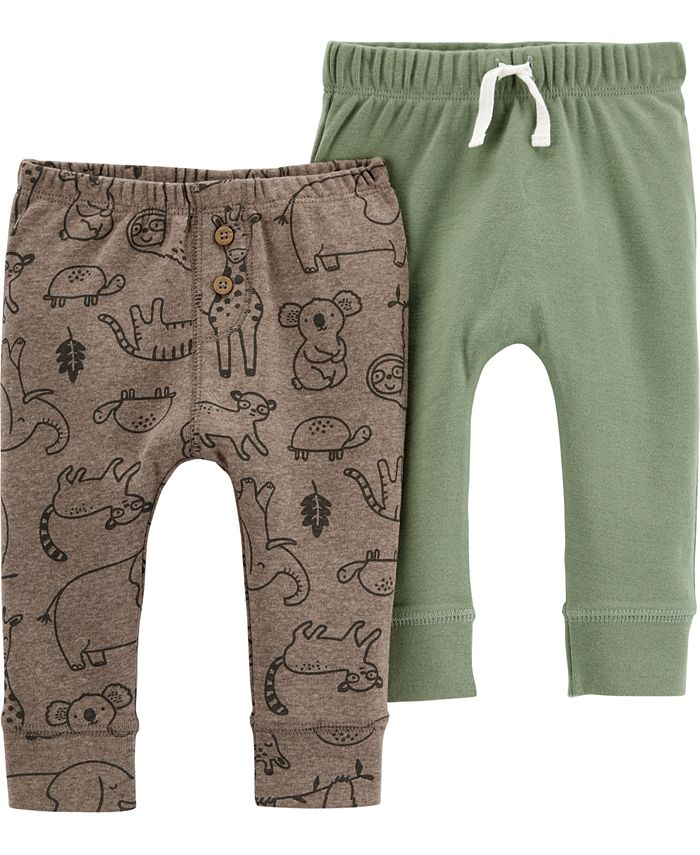 Carter's - Baby Boys 2-Pack Pull-On Cotton Pants
