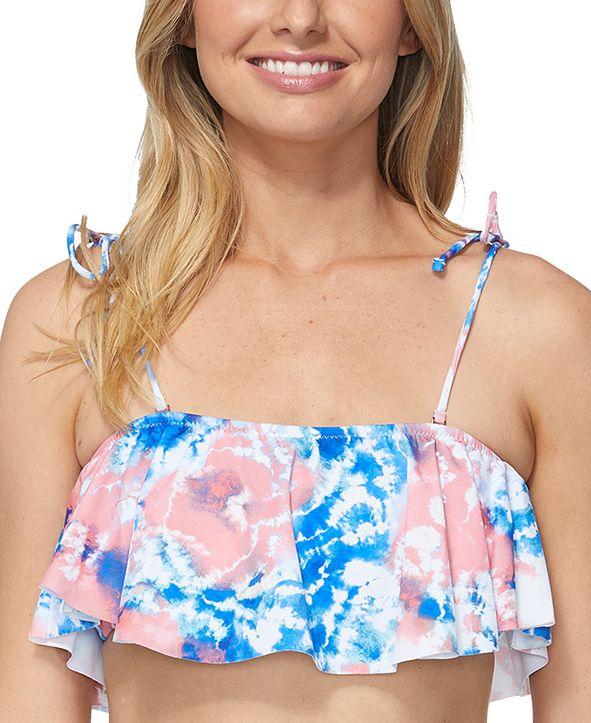 Raisins Juniors' Torquay Printed Flounce Bikini Top