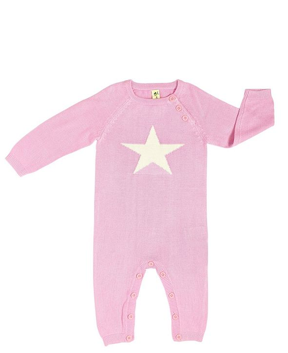 Earth Baby Outfitters Baby Boys and Girls Organic Bamboo Knit Star Romper