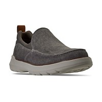 Deals on Skechers Mens Relaxed Fit Doveno Hangout Slip-on Sneakers