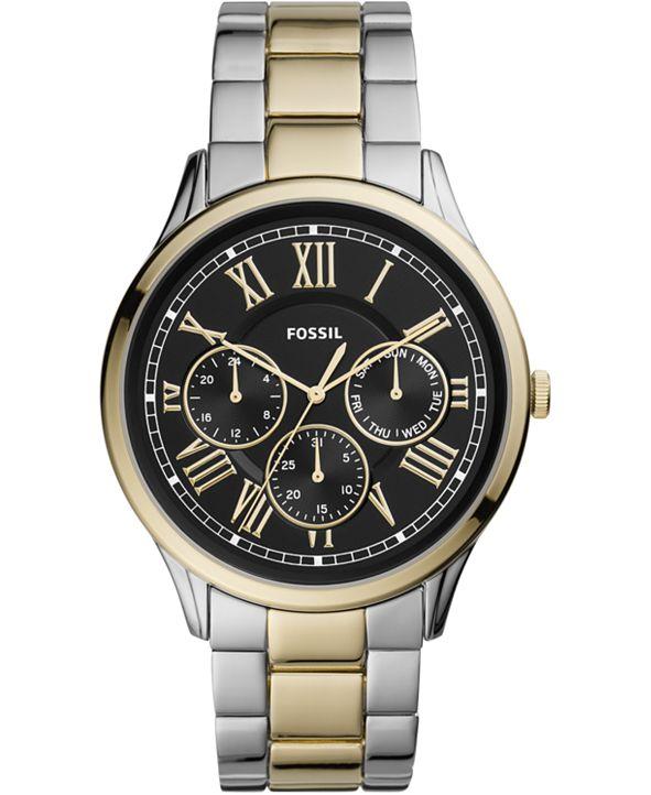 Fossil Men's Pierce Two-Tone Stainless Steel Bracelet Watch 44mm