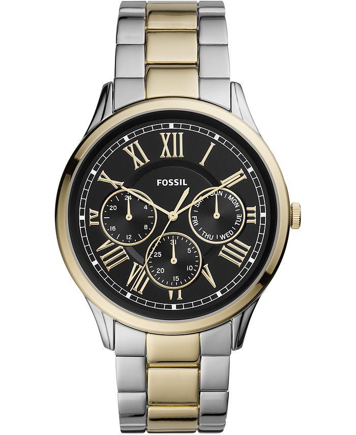 Fossil - Men's Pierce Two-Tone Stainless Steel Bracelet Watch 44mm Style #FS5704