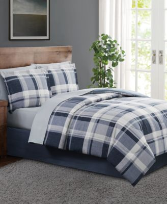 Chambray Plaid  King 8PC Comforter Set