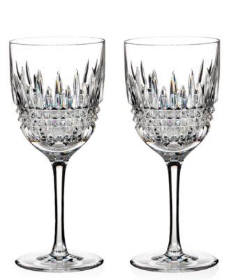 Waterford Stemware, Set of 2 Lismore Diamond Goblets