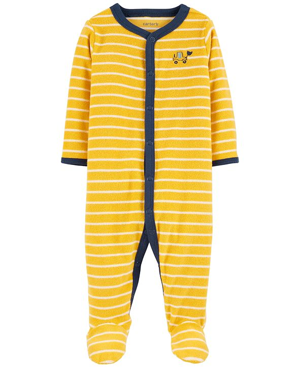 Carter's Baby Boys 1-Pc. Striped Construction Truck Cotton Coverall