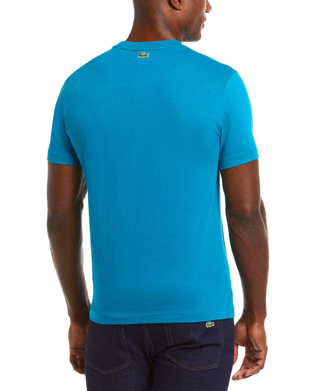 Lacoste Men's Regular Fit Short Sleeve Cotton T-Shirt with Lacoste Artwork Graphic & Reviews - T-Shirts - Men - Macy's