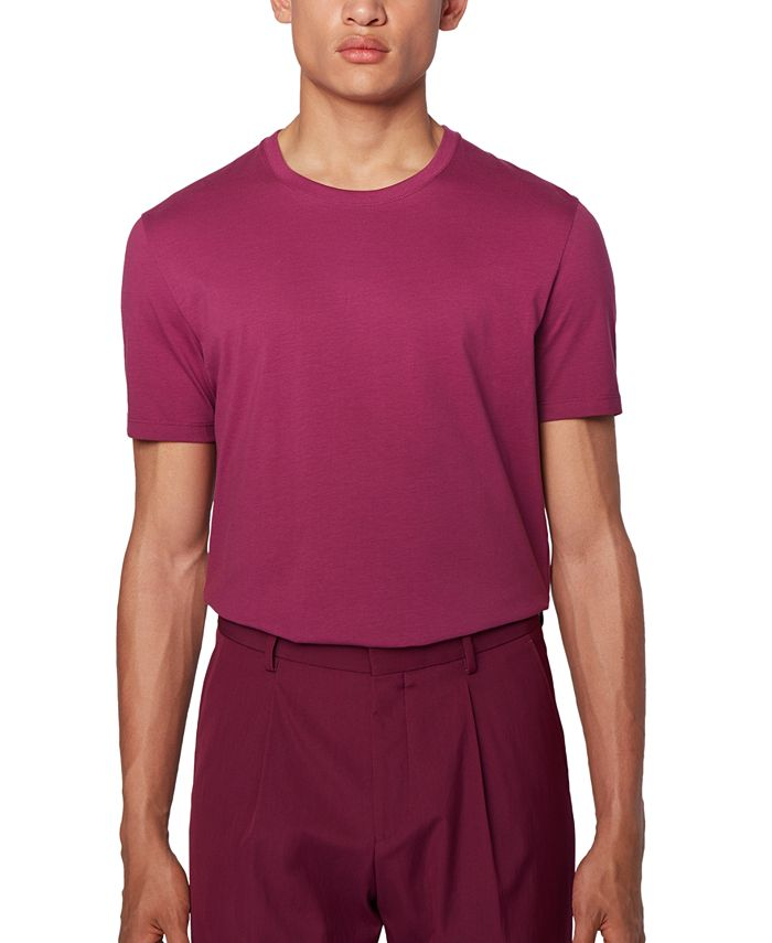Hugo Boss - Men's Tiburt 55 Purple T-Shirt