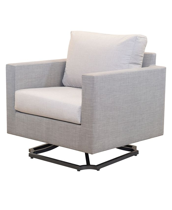 Furniture - Carleese Outdoor Swivel Chair with Sunbrella® Cushions