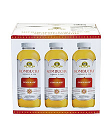 GT's Living Foods Organic Raw Kombucha Gingerade, Count 6