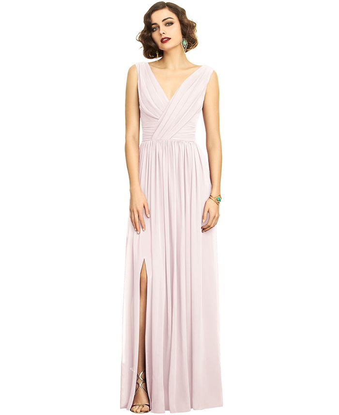 Dessy Collection - Shirred Chiffon Gown
