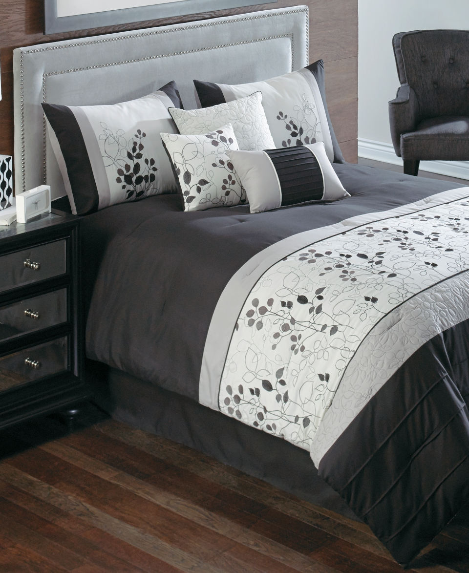 Penelope 7 Piece California King Embroidered Comforter Set