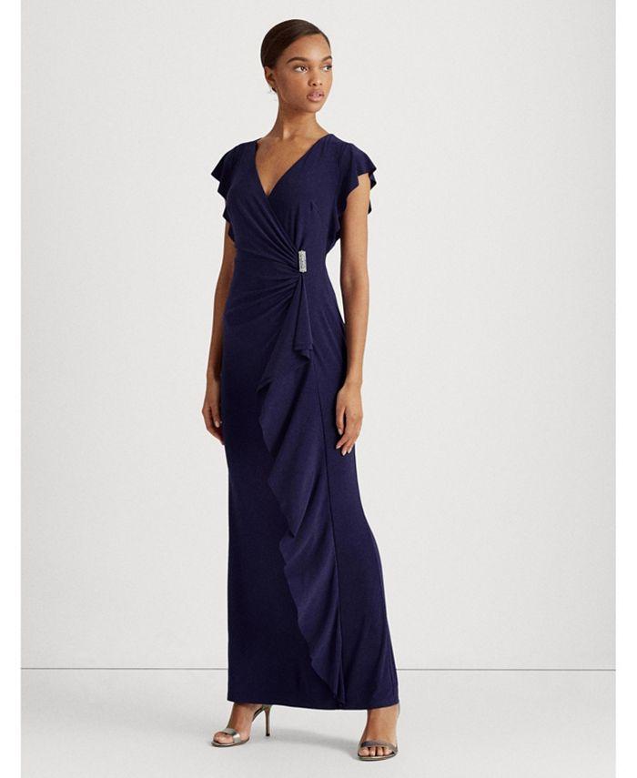 Lauren Ralph Lauren - Flutter-Sleeve Gown