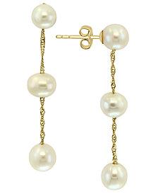 EFFY® Cultured Freshwater Pearl (5-6mm) Drop Earrings in 14k Gold
