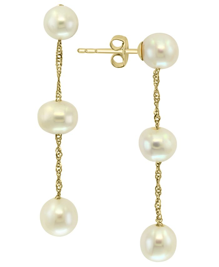EFFY Collection - Freshwater Pearl (5-6mm) Drop Earrings in 14k Gold