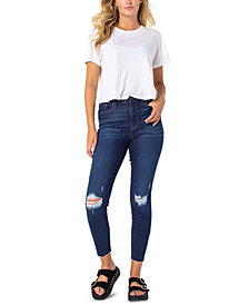 Celebrity Pink Ripped High-Rise Jeans