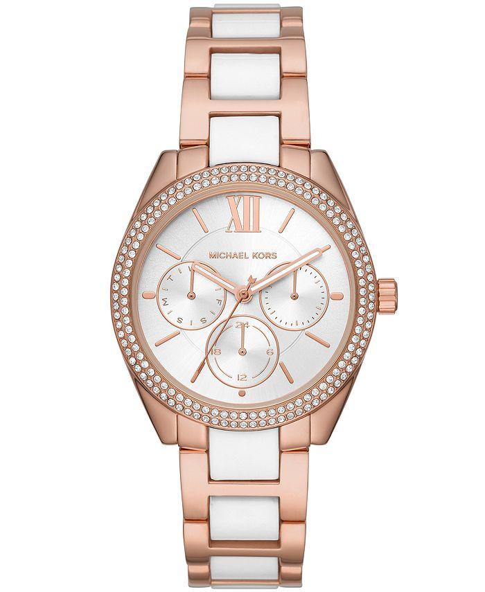 Michael Kors - Women's Janelle Multifunction Two-Tone Stainless Steel Braclet Watch 36mm MK7131