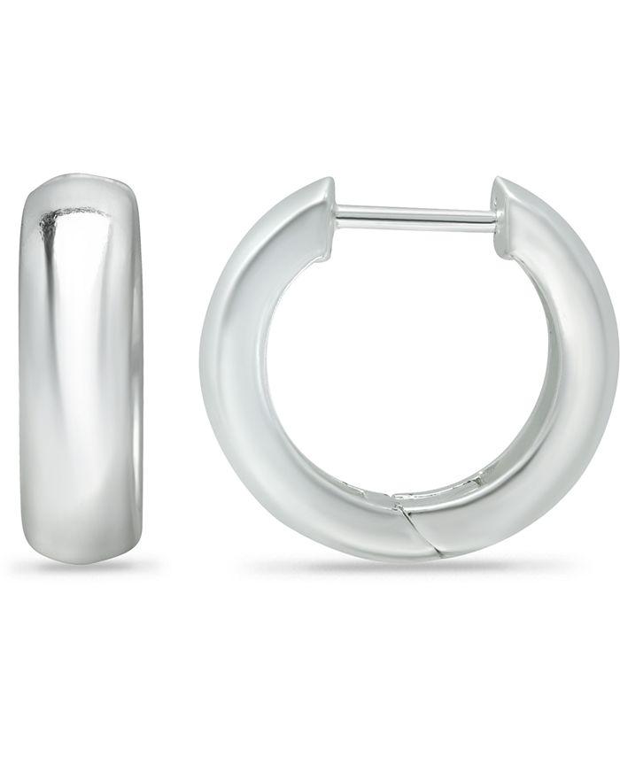 Giani Bernini - Wide Polished Hoop Earrings in Sterling Silver