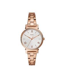 Fossil Women's Daisy Rose Gold-Tone Bracelet Watch 34mm